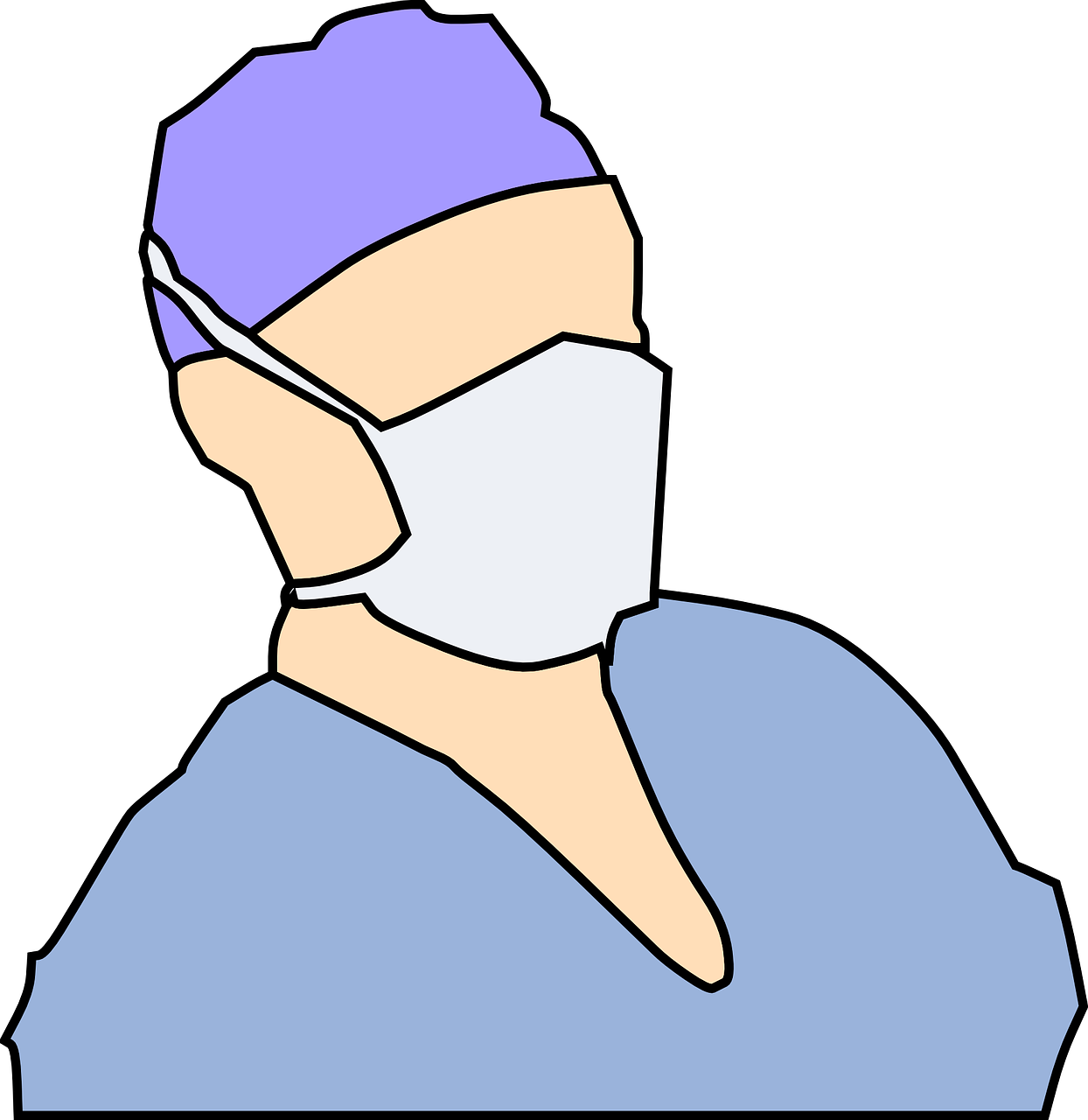 マスクをしている医者の画像