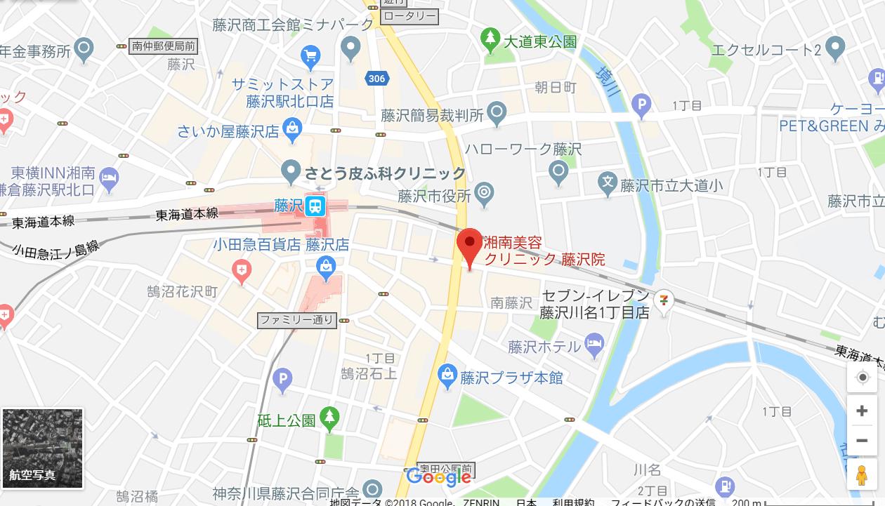 湘南美容クリニック藤沢院の地図を表した画像