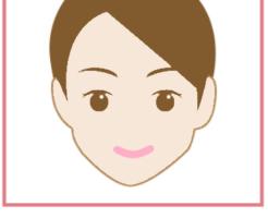 顔だけ脱毛と書かれた顔だけの女性の画像