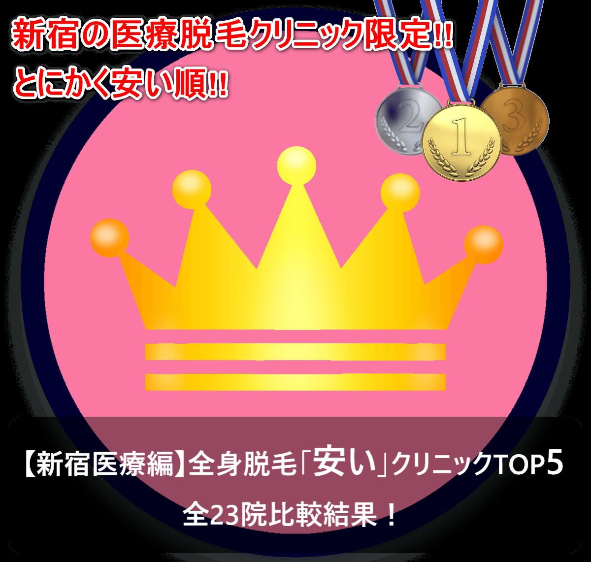【新宿医療編】全身脱毛「安い」クリニックTOP5|全23院比較結果!
