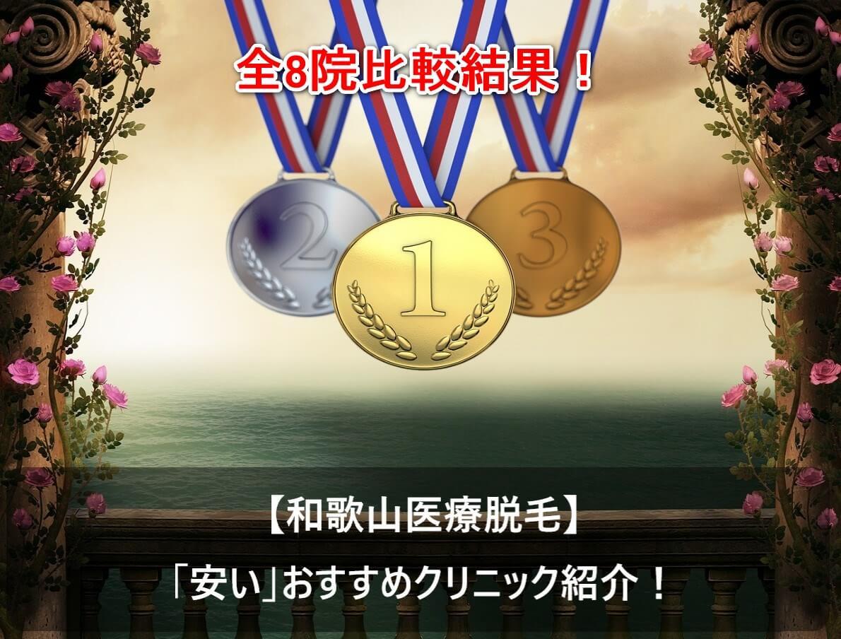 【和歌山医療脱毛】「安い」おすすめクリニック紹介|全8院比較結果!