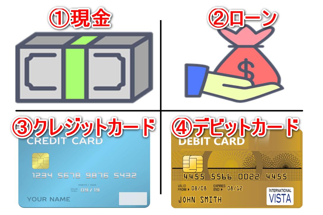 ストラッシュの支払い方法4つ